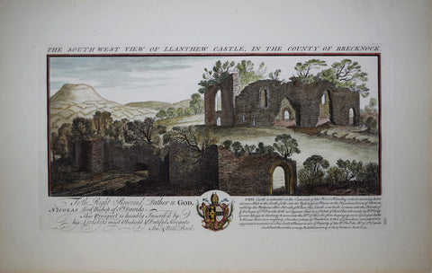 Samuel Buck (1696-1779) and Nathaniel Buck (fl. 1724-1759), The South West View of Llanthew Castle