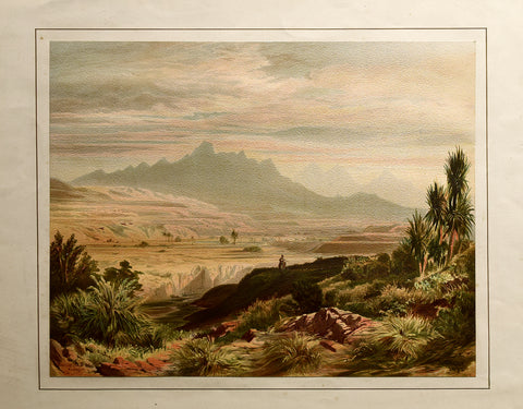 John Gully (1819-1888), The Valley of the Awatere with the Inland Kaikouras