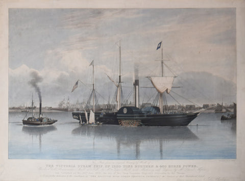 John Ward (1798-1849), after, Victoria Steam Ship, of 1200 Tons Burthen and 400 Horse Power...