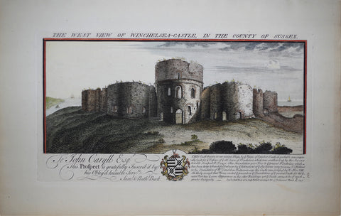 Samuel Buck (1696-1779) and Nathaniel Buck (fl. 1724-1759), The West View of Winchelsea-Castle