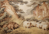 Samuel Howitt (British, 1756-1822), The Wild Boar the Sheep and the Butcher