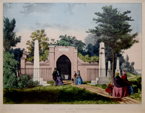 Currier & Ives,  The Tomb of Washington, Mount Vernon, VA.