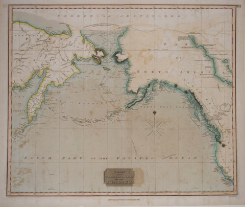 John Thomson (1777-ca. 1840), publisher, Chart of the Northern Passage Between Asia and America