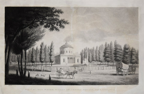 Cornelius Tiebout, (1777-1832), Engraver After John James Barrelet, View of the Water Works at Centre Square, Philadelphia