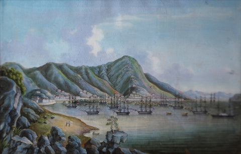 Tingua and His Studio, View of Hong Kong