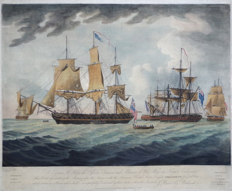 J. Jeakes, Engr., after, Thomas Buttersworth (British, 1768-1842,) To Captain H. Hope the Officers, Seamen, and Marines of His Majesty's Frigate Endymion...
