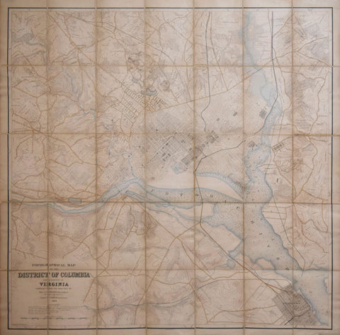 Francis Vinton Greene (1850-1921) & Garrett J. Lydecker (1843-1914), U.S. Corps of Engineers, Topographical Map of the District of Columbia and a portion of Virginia…