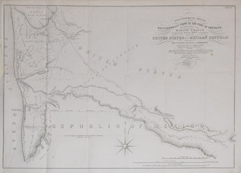 Andrew B. Gray, Topographical Sketch of the Southernmost Point of the Port of San Diego
