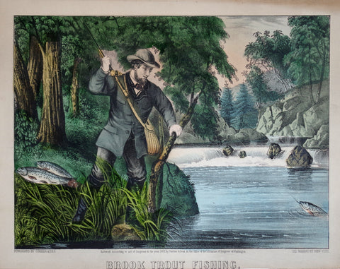 Nathaniel Currier (1813-1888) & James Ives (1824-1895), Brook Trout Fishing
