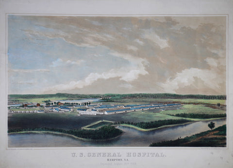 Endicott & Co. U. S. General Hospital. Hampton , VA. Organized August 14th 1863