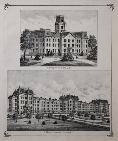 Everts & Kirk.,  University of Nebraska, State Insane Asylum