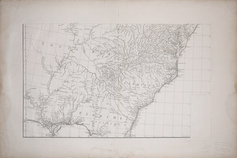 Gilles Robert sieur de Vaugondy (1686-1766), Untitiled Map of the Carolinas and Northern Florida