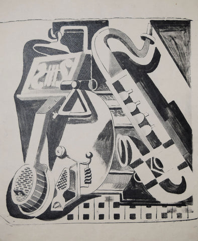 Jan Matulka (1890-1972), Untitled, [Musical Instruments]