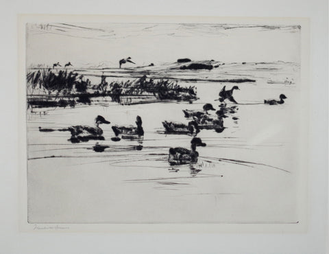 Frank Benson (1862-1951), Untitled (Swimming Ducks)