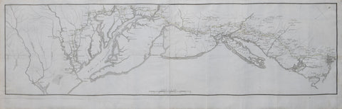 Francois Soules (1748-1809),  [Untitled Map showing the route of the Continental Army from Boston to Yorktown]