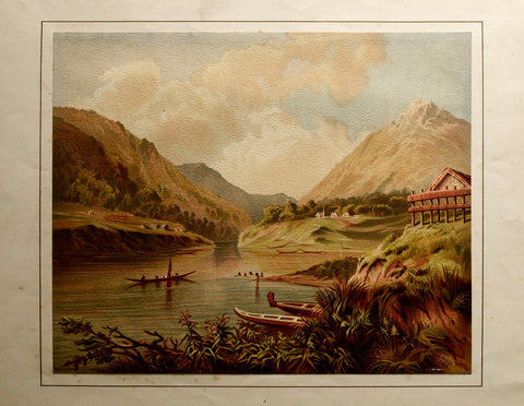 John Gully (1819-1888), Up River Scene - Wanganui - Wellington