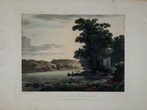 Engraved By John Hill (1770-1850, After Joshua Shaw (1776-1861), View Above the Falls of Schuylkill.