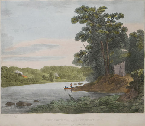 John Hill (1770-1850), View above the Falls of Schuylkill