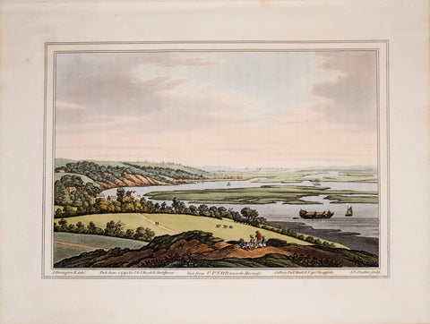 Joseph Farington (1747-1821) after, View from Upnor Towards Sheernefs