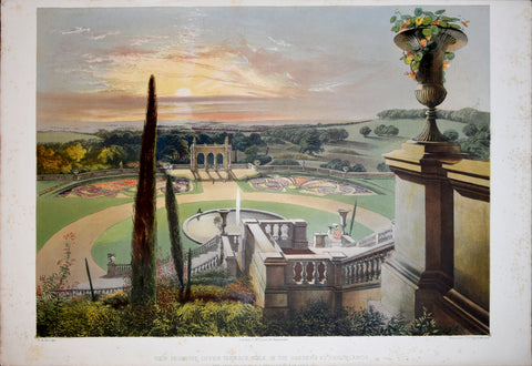 E. Adveno Brooke (fl. 1844-1864), View from the Upper Terrace Walk