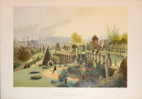 E. Adveno Brooke (fl. 1844-1864), View in the Gardens at Alton Towers