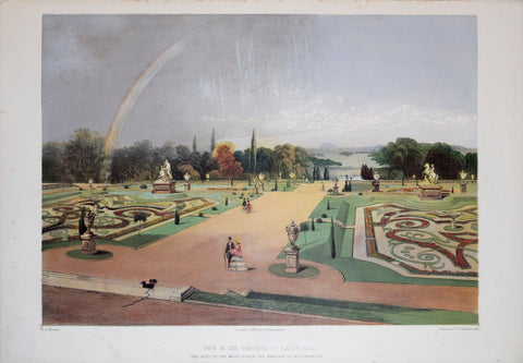 E. Adveno Brooke (fl. 1844-1864), View in the Gardens of Eaton Hall