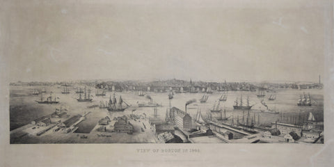 Edwin Whitefield (1816-1892), View of Boston 1848. From East Boston.