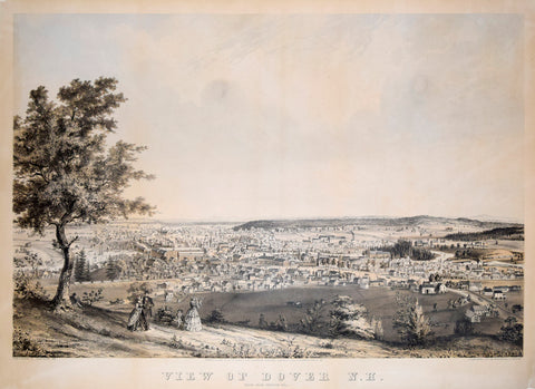 John B. Bachelder (1825-1894), View of Dover NH. Taken from Garrison Hill.