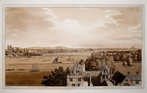 Joseph Farrington (1747-1821), delineated, View of London from Lambeth
