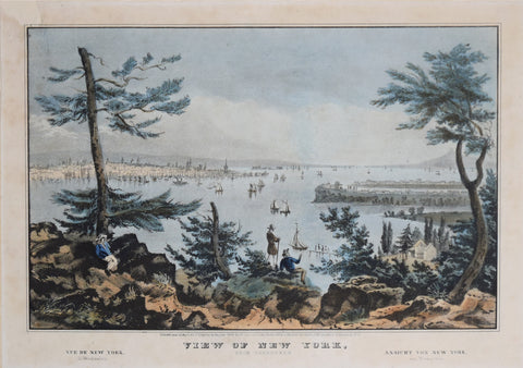 Nathaniel Currier (1813-1888), View of New York from Weehawken