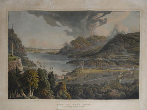 Robert Havell Jr. (1793–1878), View of West Point, United States Military Academy