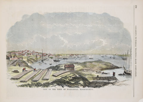 Gleason's Pictorial Drawing- Room Companion, View of the Town of Marblehead, Massachusetts