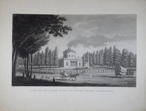 John James Barralet (ca. 1747-1815), View of the Waterworks at Centre Square Philadelphia