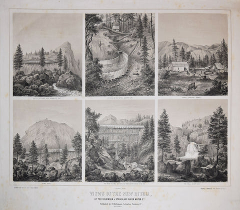 F. Holtzman, Drawn from Nature, Views of the New Ditch, of the Columbia & Stanislaus River Water Co.