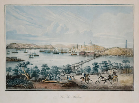 Louis Le Breton (French, 1818-1860), 2eme Vue de Boston