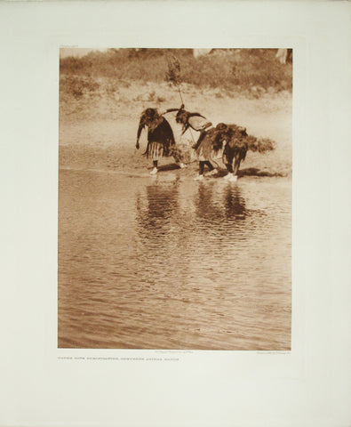 Edward S. Curtis  (1868-1952), Water Rite Purification, Cheyenne Animal Dance Pl. 662