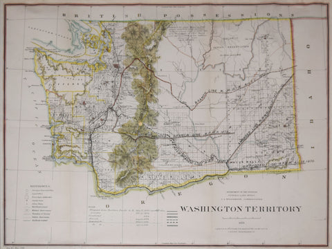 United States General Land Office/Charles Roeser, Territory of Washington, 1879