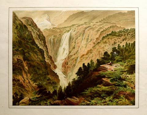 John Gully (1819-1888), Waterfall in Thompson's Sound - West Coast