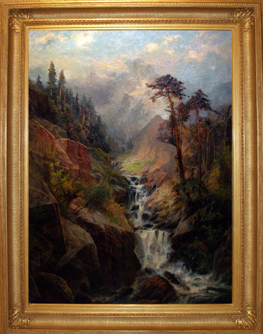 Carl Phillip Weber (1850-1921), [Mountain landscape with waterfall]