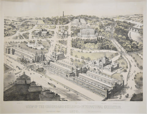 A.L. Weise, View of the Ground and Buildings International Exhibition. 1876.