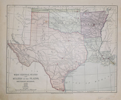 Harper & Brothers (1833–1962), West Central States and States of the Plains, Southern Division