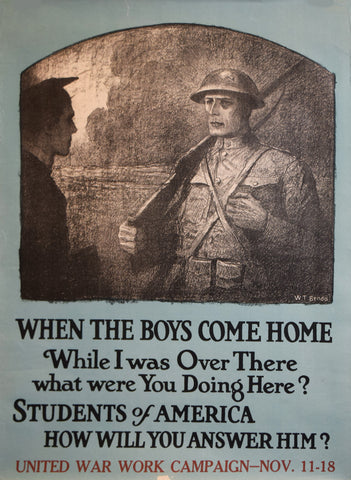 Wladyslaw Theodore Benda (1873-1948), When the Boys Come Home