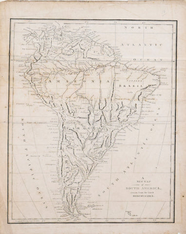 Robert Wilkinson (fl. 1768-1825), A New Map of South America drawn from the latest Discoveries