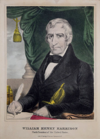 Nathaniel Currier (1813-1888), William Henry Harrison Ninth President of the United States