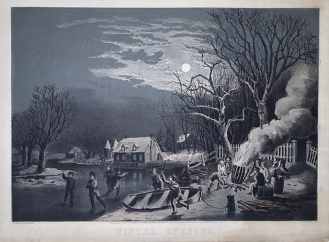Nathaniel Currier (1813-1888) & James Ives (1824-1895), Winter Evening