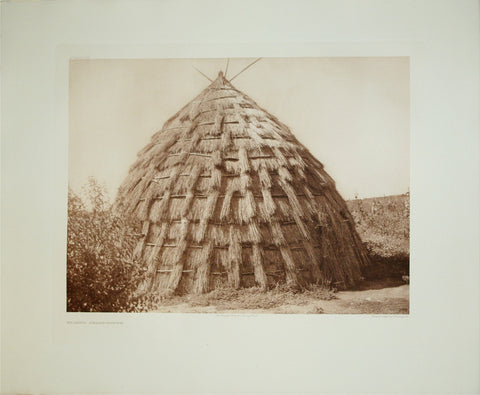 Edward S. Curtis  (1868-1952), Wichita Grass-House Pl. 654