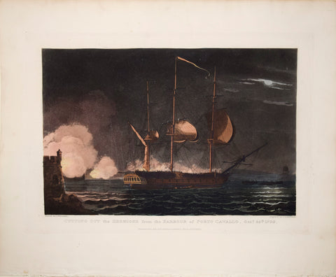 Witcombe and Sutherland, Cutting Out the Hermione from the Harbour of Porto Cavallo, Oct. 25th 1799