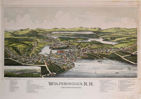 George E. Norris (1855-1926), drawn by, Wolfeborough, N.H. Lake Winnipesauke (Wolfeboro)