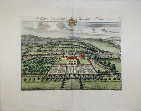 Johannes Kip (1652-1722), Wyck the seat of Richard Haines Esq
