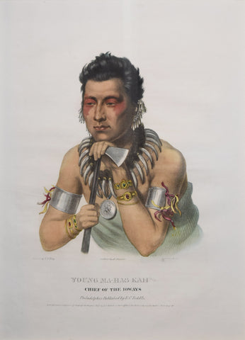 Thomas McKenney (1785-1859) & James Hall (1793-1868), Young Ma-Has-Kah, Chief of the Ioways